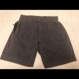 Gray LuLu Lemon men's athletic shorts